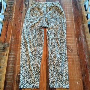 Victoria's Secret Animal Print Leopard Pajamas M